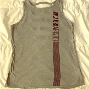 Victoria's Secret Sport top Sz S Grey Open back